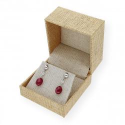 Pendientes de Oro con Diamante y Piedras Preciosas