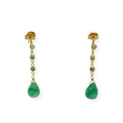 Pendientes de Oro con Esmeraldas