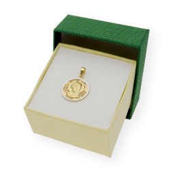 Medalla Virgen Niña Primera Comunión de oro