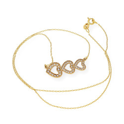 Collar de Oro y Diamante con colgante en forma de corazón