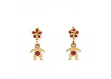 Charm cristal de Murano rojo Brillante