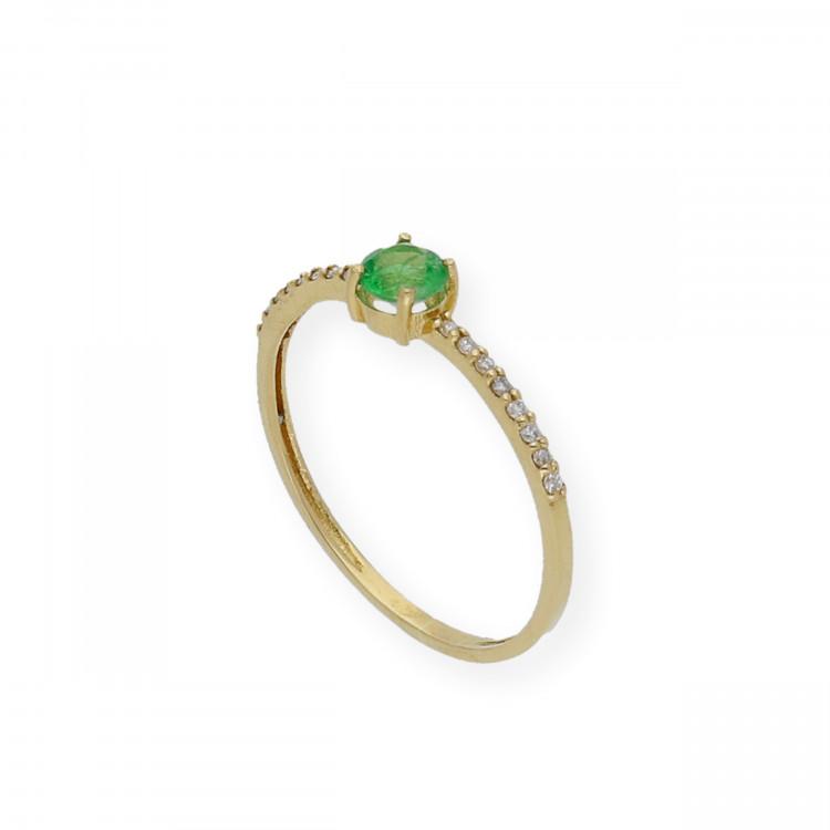 Anillo de Oro y Diamantes con Piedras Preciosas